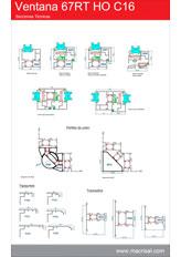 Secciones Ventana Oscilobatiente 67RT HO C16