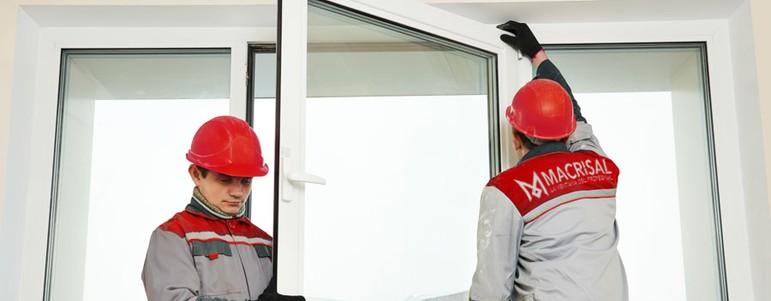 Instalación de ventanas de aluminio y de pvc